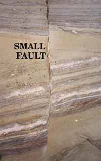 Close-up of small fault